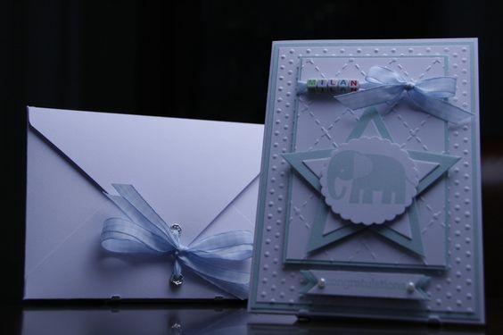 Glückwunschkarten - Glückwunschkarte Personalisiert ,Stern Himmelblau - ein Designerstück von EvasCardArt bei DaWanda