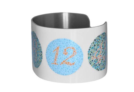 Color Blindness Test Patterns Image Aluminum Cuff | Color Blindness Test  And Products Nice Design