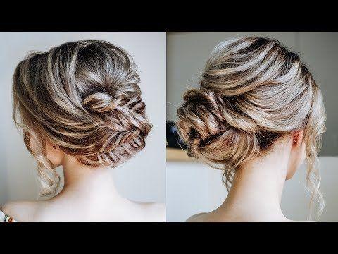 Cute Braid Updo Hairstyles 2018 Simple Braided Bun Tutorial Youtube In 2020 Easy Updo Hairstyles Braided Hairstyles Updo Hair Updos