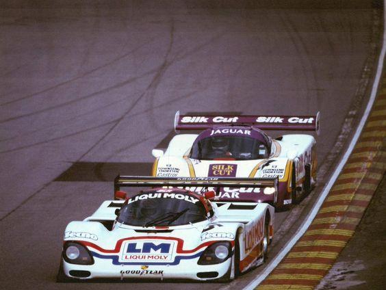 … epic cars Mauro Baldi (Porsche 962C) being chased by Raul Boesel (Jaguar XJR-8), 1987 1000km, Brands Hatch