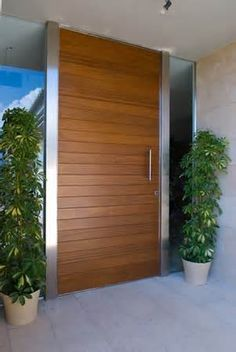 Puertas exteriores madera y crital buscar con google for Puertas de entrada de madera modernas