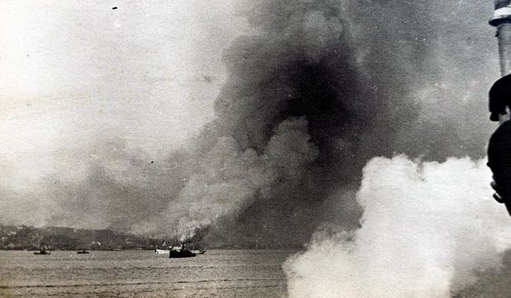 A set of unique photographs taken during the First World War by a British sailor shows the biggest manmade explosion in history