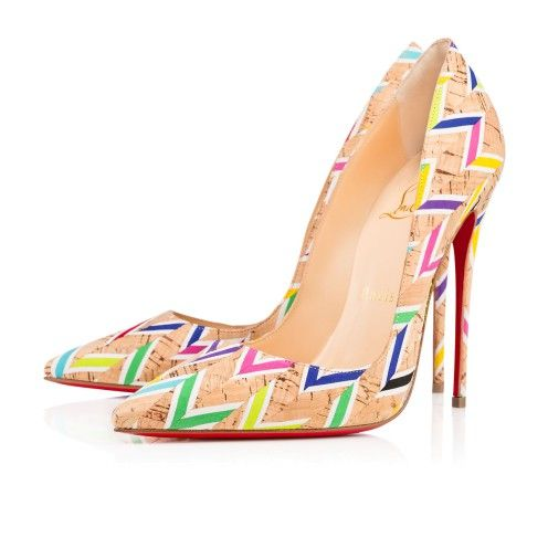 Chaussures femme - So Kate Cork Chevron - Christian Louboutin