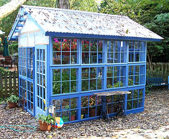 21 DIY Greenhouses with Great Tutorials - A Piece of Rainbow: