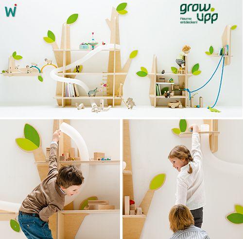 wand spiel regal von grow upp. Black Bedroom Furniture Sets. Home Design Ideas