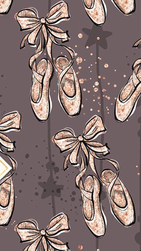 Ballet Pointe Slippers Phone Wallpaper Lock Screen Desenhos De Ballet Bailarina Desenho Arte Da Danca