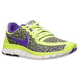 Women's Nike Free 5.0 V4 Running Shoes | Finish Line | Volt/Hyper Grape/