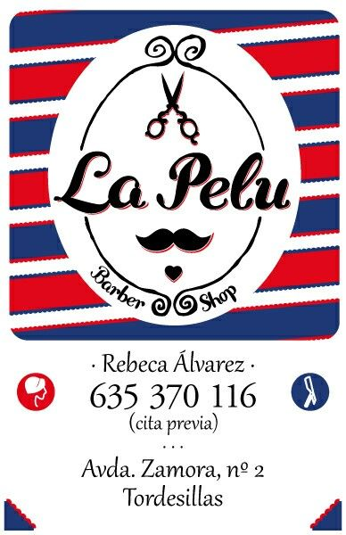 Logo La Pelu {Barber Shop}, Tordesillas. By Mateo Castellano