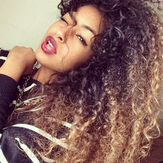 Ombre Hair Coloring Ideas For Natural Hair - Curly Hair 8