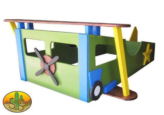Hey i found this really awesome kids bed on etsy https for Airplane bed frame