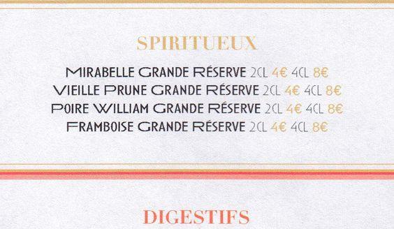 Policestudio's logotype and menu design for Chez Jeannette, in Paris.