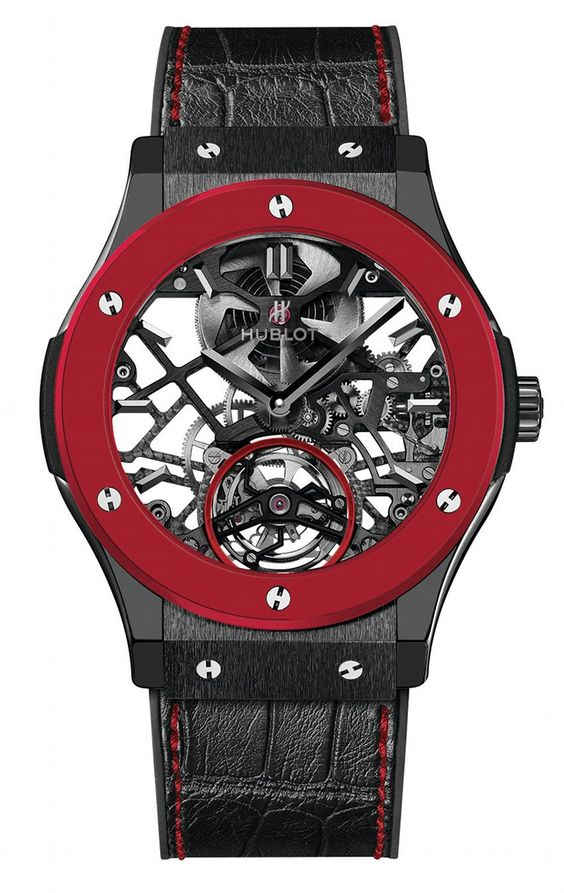 HUBLOT Red'n'Black Skeleton - Piece unique for supporting Only Watch 2013