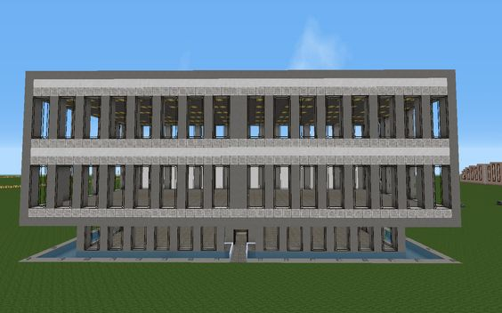 The first iteration of an office building. #minecraft