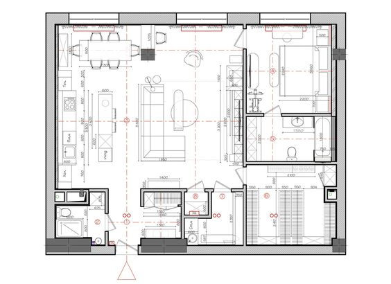 2 Apartments Under 120 Square Meters 1300 Square Feet With Floor Plans Floor Plans Living Room Furniture Layout Floor Plan Design