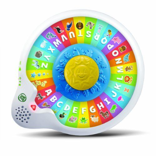 LeapFrog AlphaZoo Spinner. Press and spin your way to early reading skills!  Listen and learn the names of the letters when in Letter mode and the names and sounds of animals when in Animal mode. Personalize the learning with your childs first initial and favorite animal. The AlphaZoo Spinner is appropriate for children ages 12 to 36 months. Parents can connect to the online LeapFrog Learning Path for customized learning insights and ideas to expand the learning.Pro