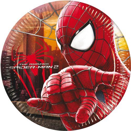 8 assiettes Spiderman anniversaire enfant