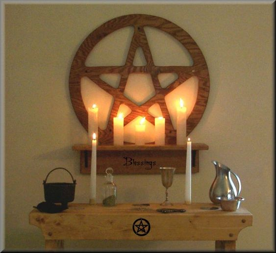 Simple pagan altar