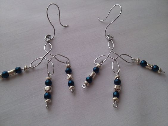 Cross and glass bead earrings by tonnibrill on Etsy, $20.00