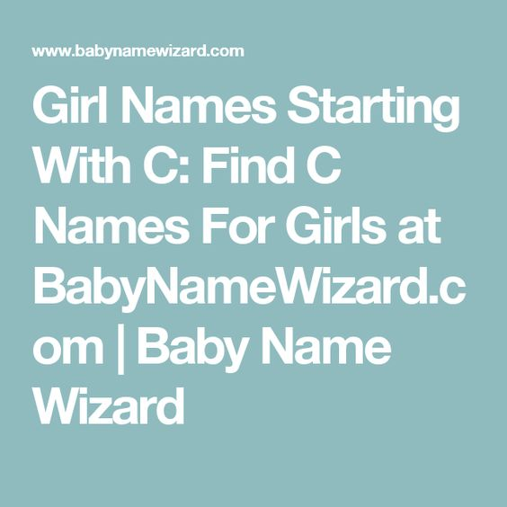 Italian Boy Name: Girl Names Starting With C: Find C Names For Girls At