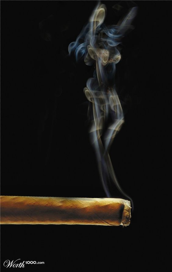 Once Upon a Time, in a Cigar, there came out, in the Smoke, the Silhouette of a Jinny who danced all through the night ...