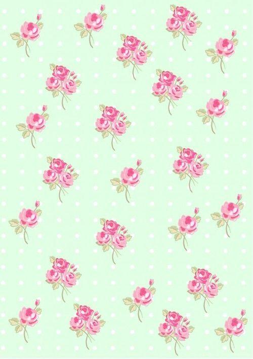 retro modern vintage floral ditsy print wallpaper