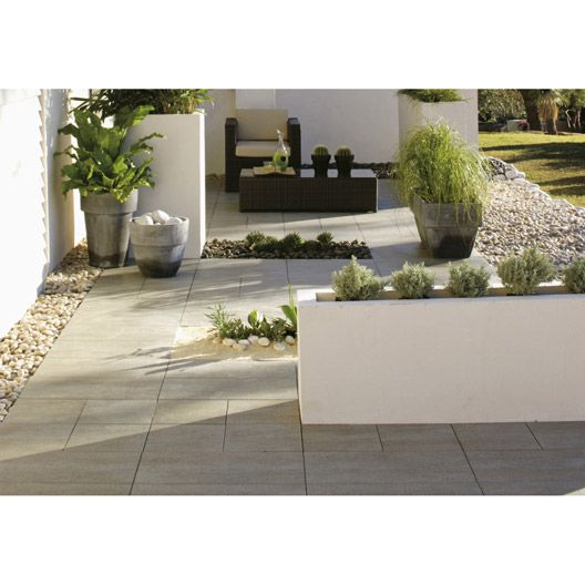 Carrelage ext rieur source en gr s c rame pleine masse for Leroy merlin carrelage terrasse