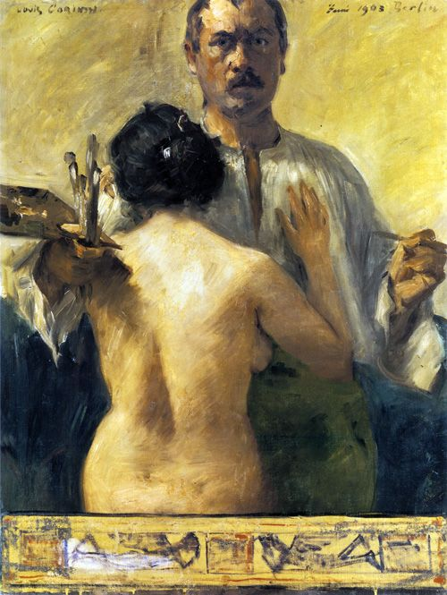Self Portrait,1903 by Lovis Corinth (German, 1858-1925)