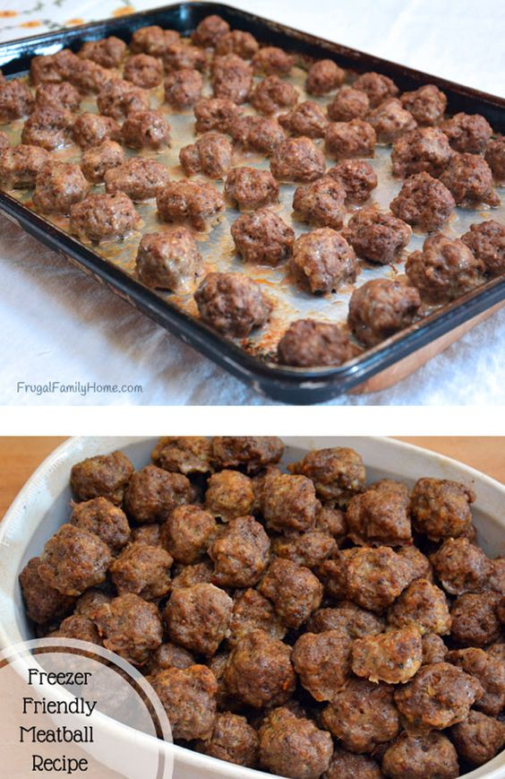 Making my own convenience foods helps me to keep my budget low and keeps me in easy to make dinner. I'm sharing my favorite freezer friendly meatball recipe. It's not seasoned too much so it's really versatile.