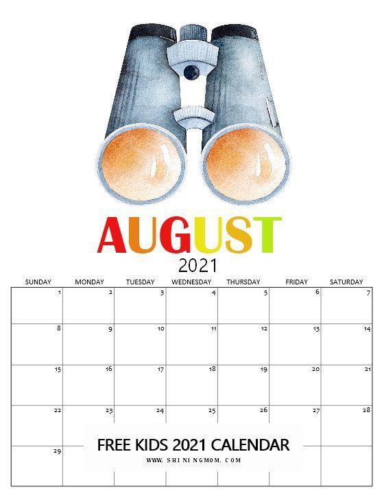 Free Kids Calendar 2021 in Super Cute Theme: So Fun to Use! in