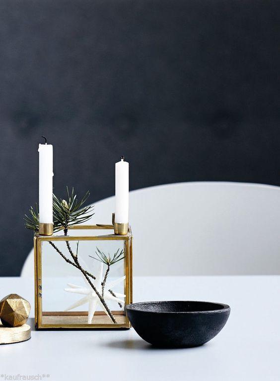 house doctor kerzenleuchter m dekobox f 4 kerzen square messing advent glas in m bel. Black Bedroom Furniture Sets. Home Design Ideas