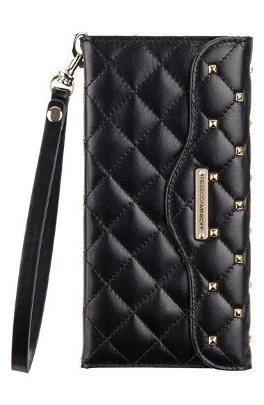 Rebecca Minkoff x Case-Mate iPhone 6 Plus Quilted Wristlet available at #Nordstrom