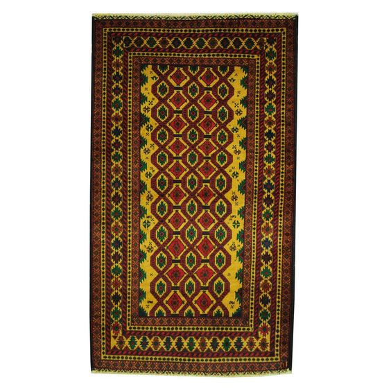 Refurbished Herat Oriental Semi-Antique Afghan Hand-knotted Tribal Balouchi / Red Rug