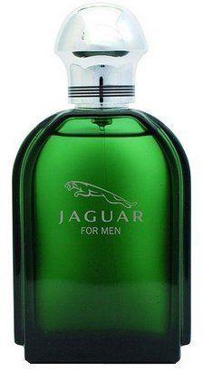 sprays jaguar and eau de toilette on