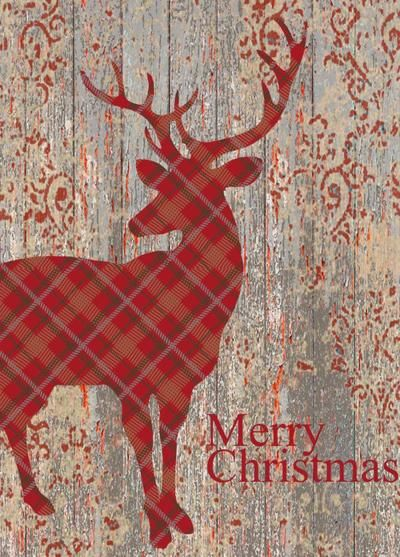 red-tartan-deer-on-distressed-wod