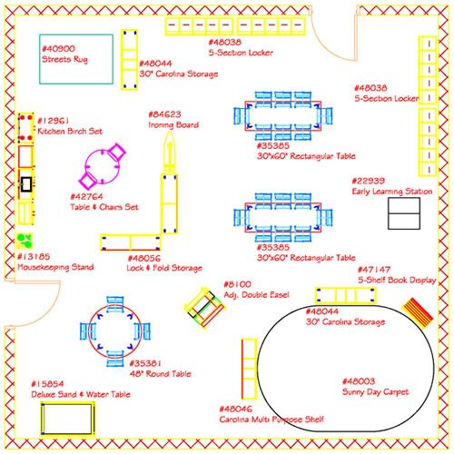 Classroom Design Printable : Pre k classroom layout correlations lists