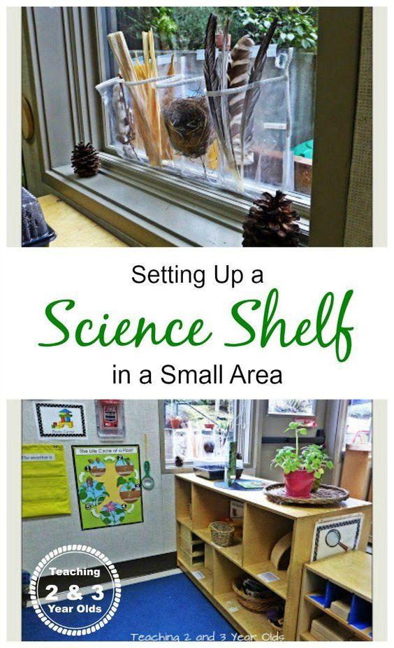 Setting up a preschool science center in a small space - ideas work for home or a classroom