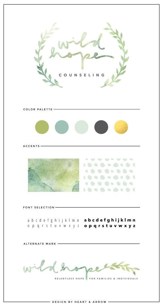 I like this one how there's the leaves and the varying colors within the text and watercolor