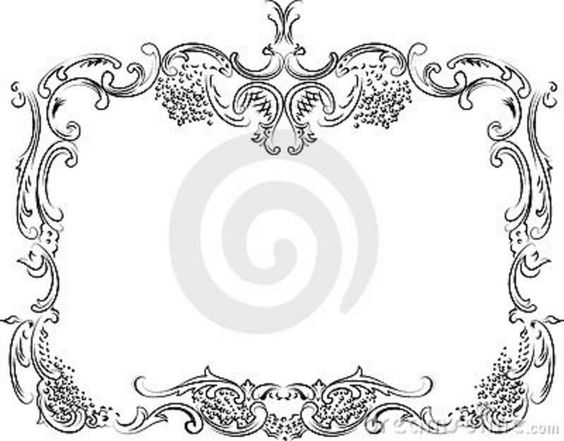 Victorian Frame Tattoos Royalty Free Stock Photos And