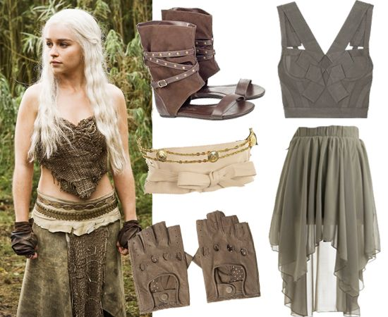 Game of thrones dress game of thrones and game of on for Game of thrones daenerys costume diy