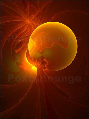 Fraktal Licht Poster von gabiw Art