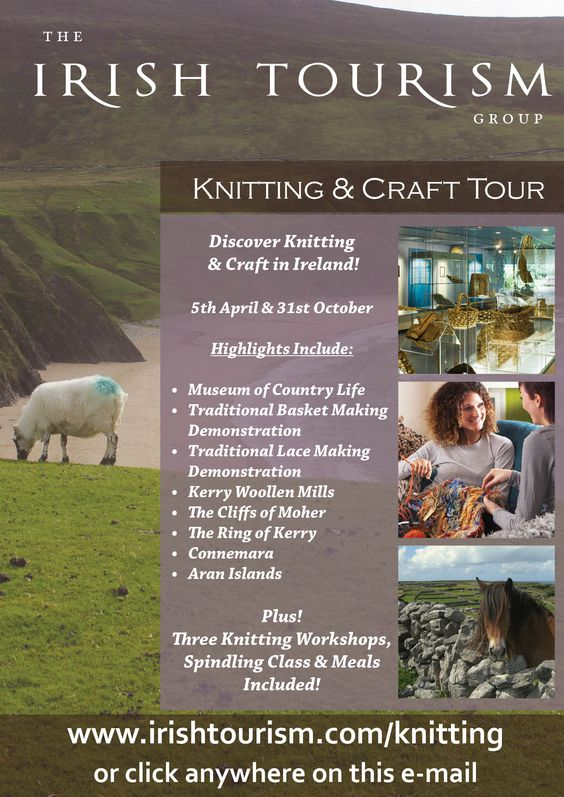 More information about our knitting tours of Ireland - www.irishtourism.com/knitting