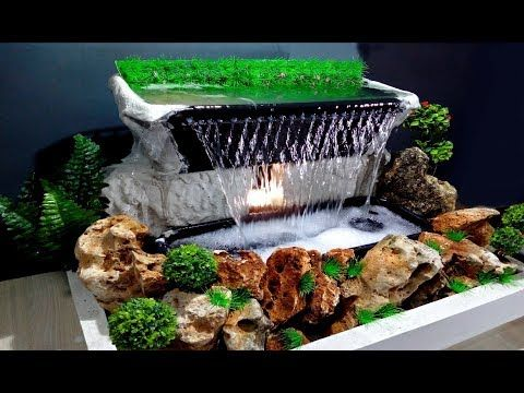 How To Make Beautiful Waterfall At Home Very Easy Diy Youtube