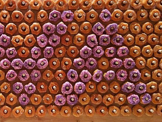doughnut wall detail. Customizable with choice of doughnuts, who'da thought?