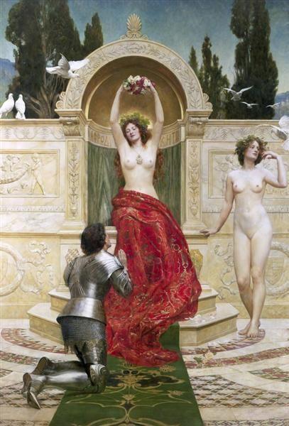 Tannhäuser in the Venusberg - Collier John Date: 1901 Style: Romanticism Genre: history painting: