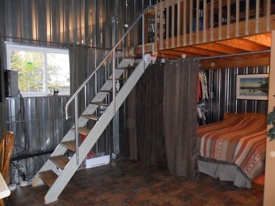 Loft stair stringers by fast mammaw 39 s place pinterest a well ceramic tile - Attic houses with exterior stairs ...