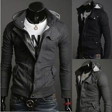 Super Men Clothing Casual Slim Cool Fit Zip Coats Jacket Sweater Hoodie Currents: