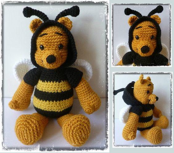 Patron Amigurumi Eeyore : Crochet : patron amigurumi Winnie labeille Motifs ...