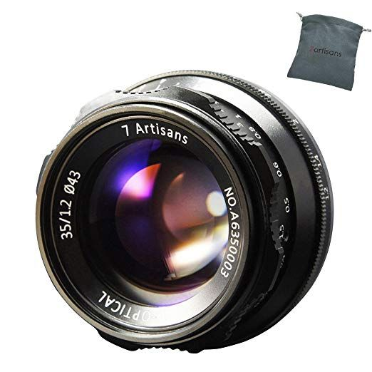 7artisans 35mm F1 2 Manual Focus Lens Aps C Fit For Compact Mirrorless Cameras Fuji X A1 X A10 X A2 X A3 A At X M1 X Mirrorless Camera Fuji Camera Manual Focus