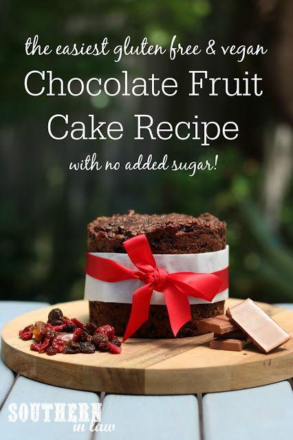 Four Ingredient Chocolate Fruit Cake Recipe