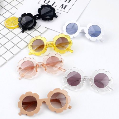 1x Anti-UV Sunglasses Kids Boys Baby Girls Sun Flower Goggle Glasses Eyeglass